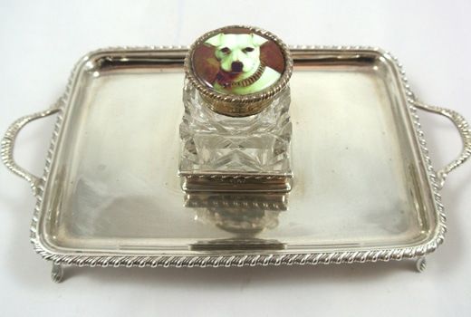 Antique-Victorian-Sterling-Silver-Inkwell-Tray