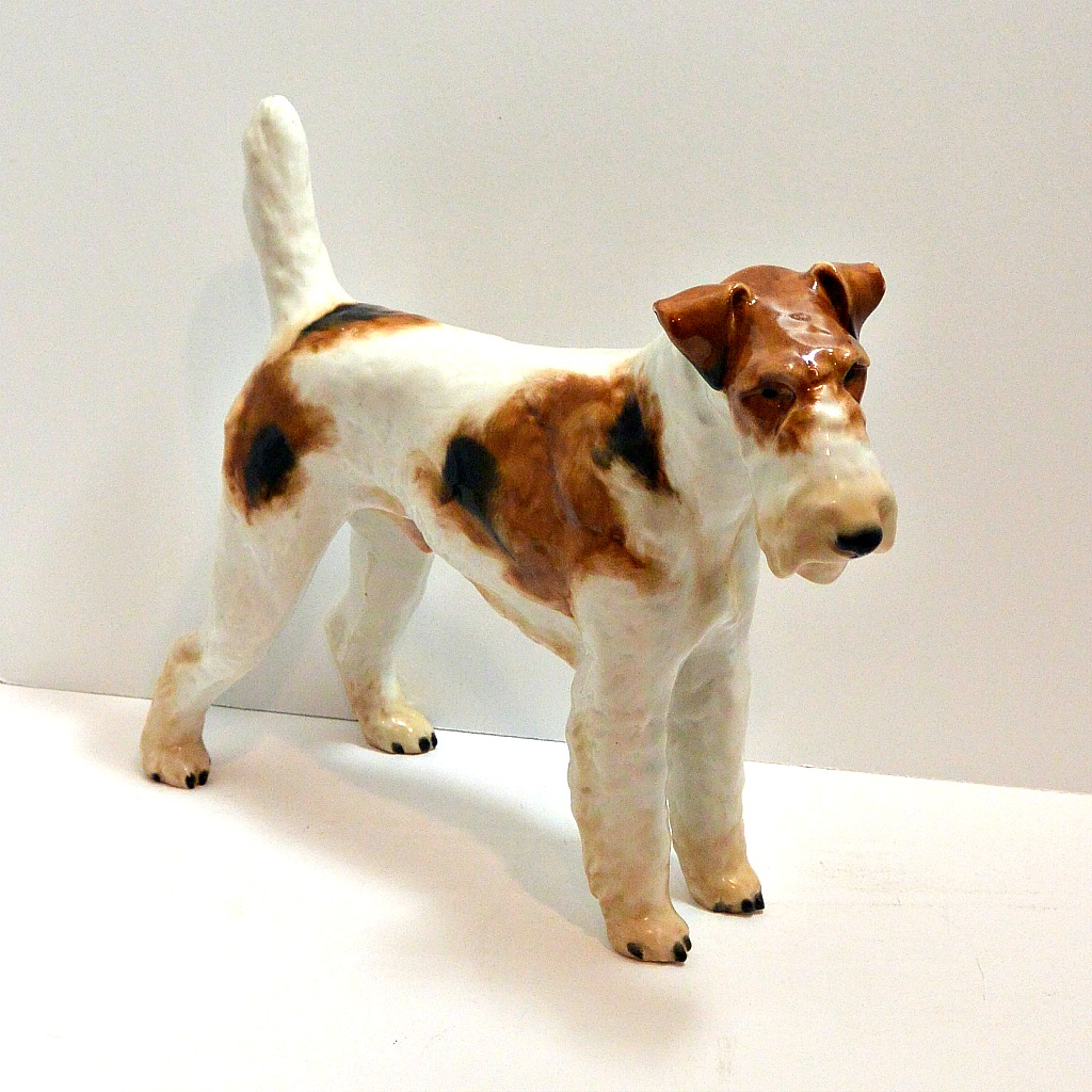 Large Rosenthal Wire-Haired Fox Terrier Figurine c.1935 - A Dog\'s Tale